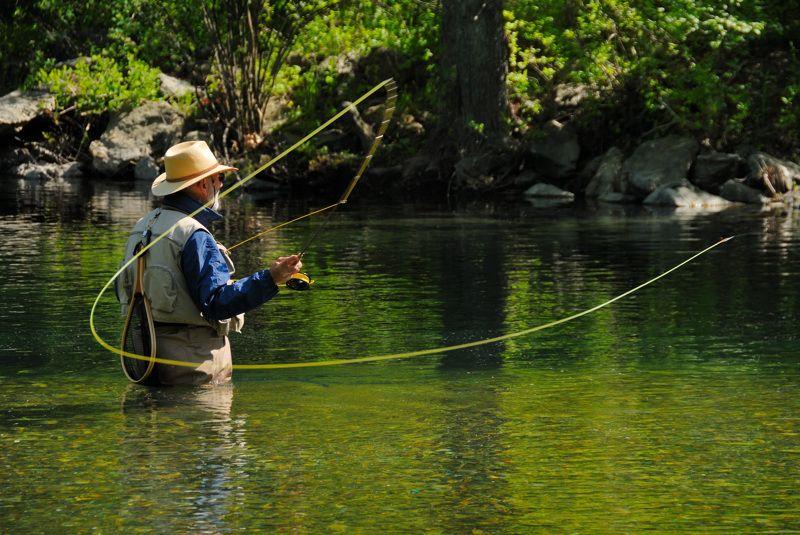 pescatore a mosca