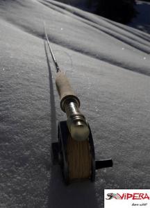 La canna vipera sulla neve