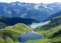 Lago alpino Ritom in Canton Ticino