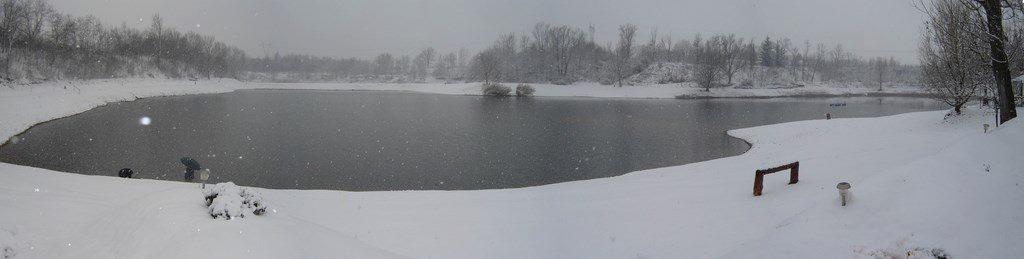 Il lago Airone in inverno