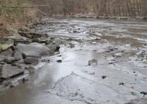 La colata di fango sul fiume tresa