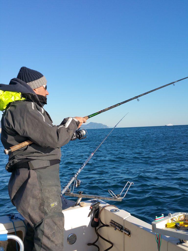 L'azione di pesca nel light drifting