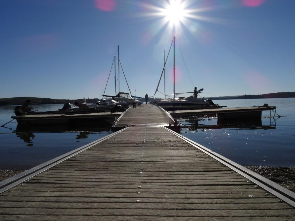 Il molo delle barche del centro Pesca Extremadura