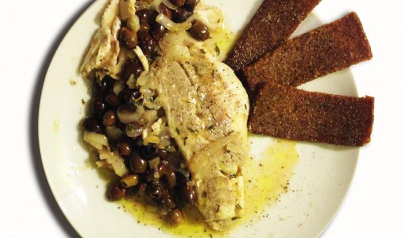 Filetto di branzino con olive taggiasche