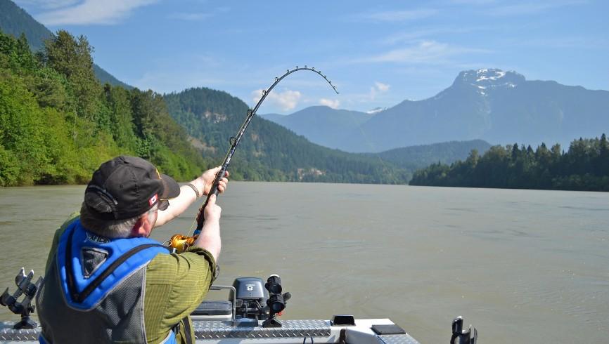 a pesca di storioni