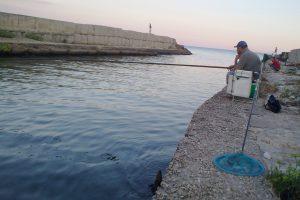 pescatore in foce