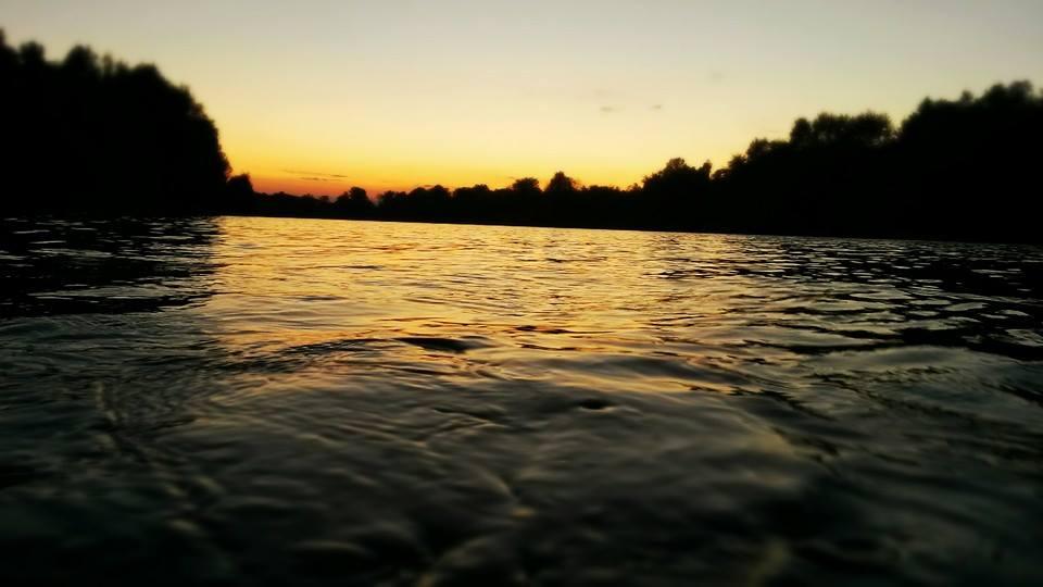 Tramonto sul fiume Isonzo