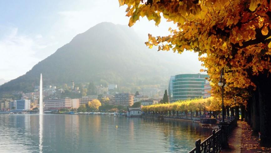autunno lago di lugano