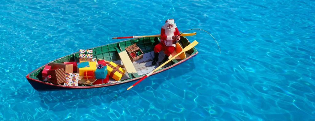 Santa Fishing For Presents