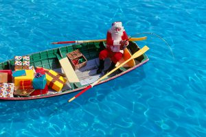 Santa Fishing For Presents