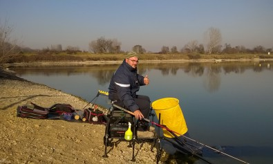Pesca all'inglese al lago dei cigni