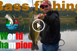 Bass fishing a Bolsena