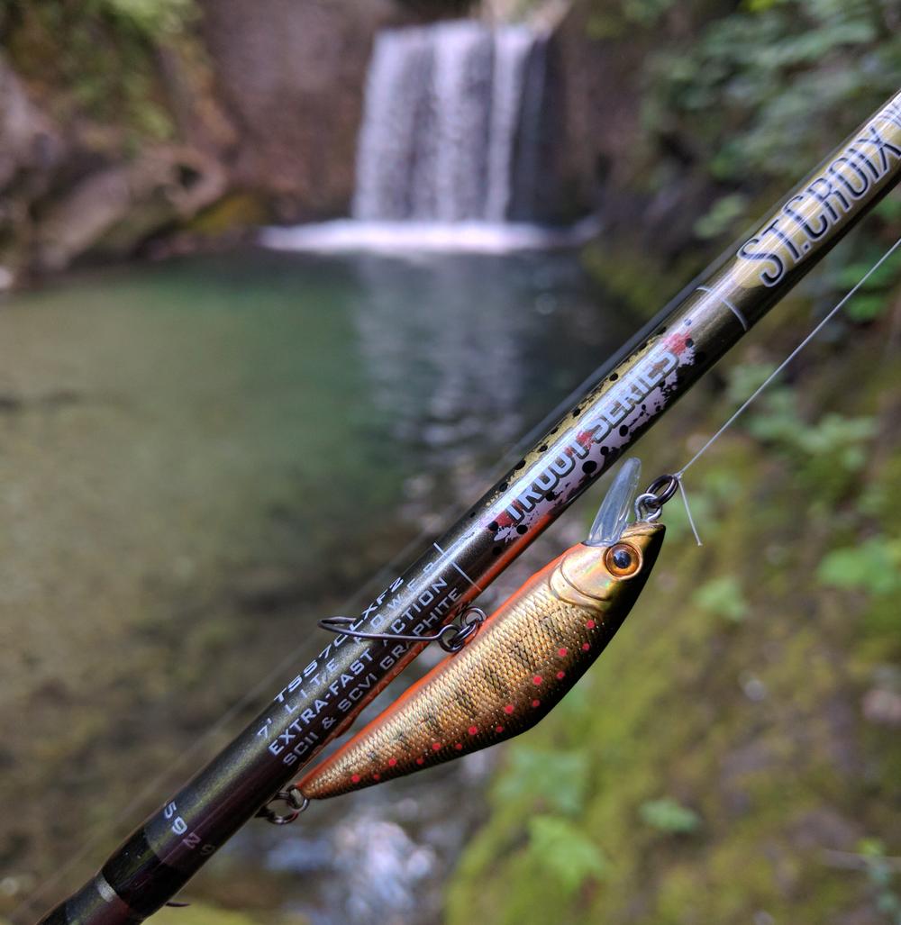 Attrezzatrue pesca trota in torrente