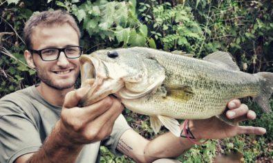 Dario con un bel Bass della Vasca di Cigognola